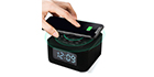 HomeTime D2qi Bluetooth Speaker with Alarm Clock and Wireless Charging Function -Black