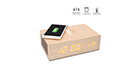 HomeTime M9qi Wooden Bluetooth Speaker with Alarm Clock and Wireless Charging Function - Wood